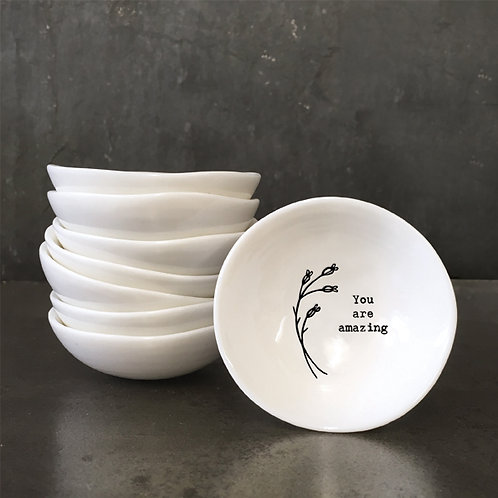 Small Porcelain 'You are amazing' Trinket Dish