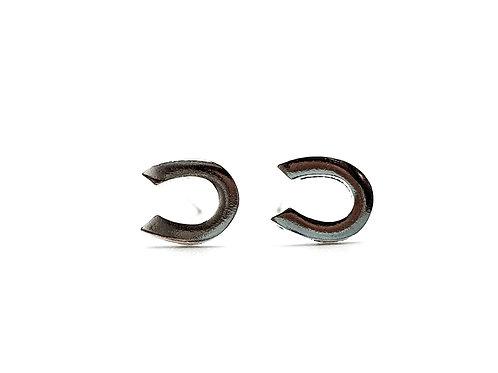 Horse, Shoe, Horse Shoe Earrings, Silver Horse Shoe Earrings, Silver Horse Shoe Studs, Sterling Silver Horse Shoe Earrings,