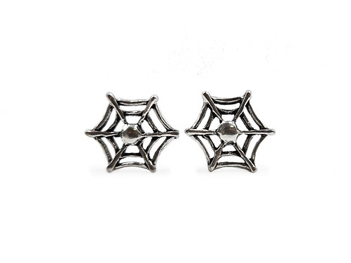 The Spider Web Stud Earrings 925 Sterling Silver