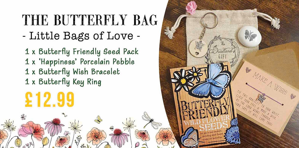 SMALLER THE BUTTERFLY BAG OF LOVE WOODLA