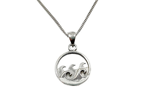 The Ocean Waves 925 Sterling Silver Necklace