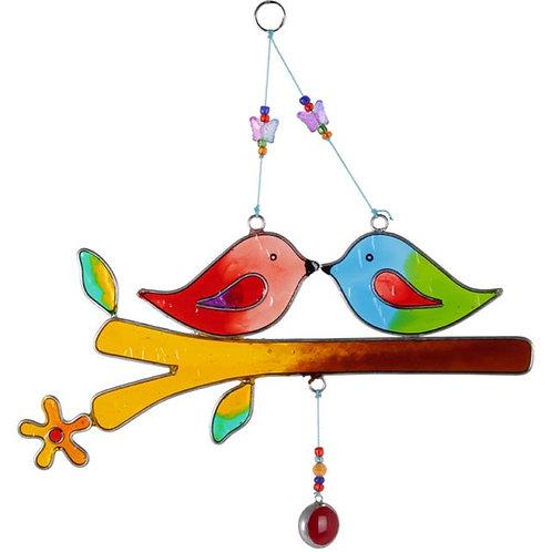The Love Birds Hanging Sun catcher