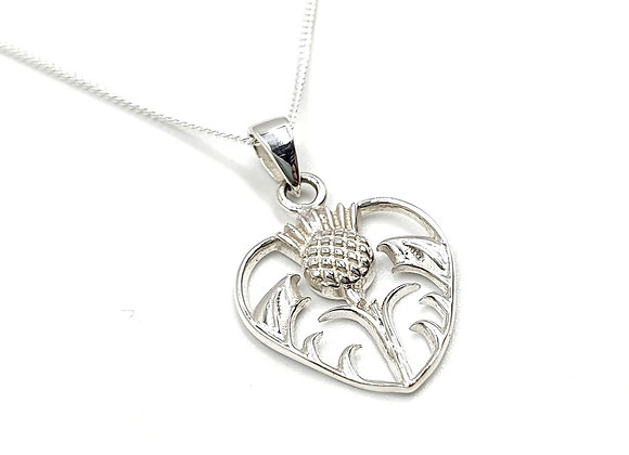Scottish, thistle, Scottish Thistle necklace, Silver Scottish Thistle Necklace, Sterling Silver Scottish Thistle necklace,