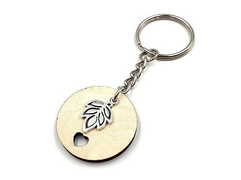 The Woodland Leaf Key Ring