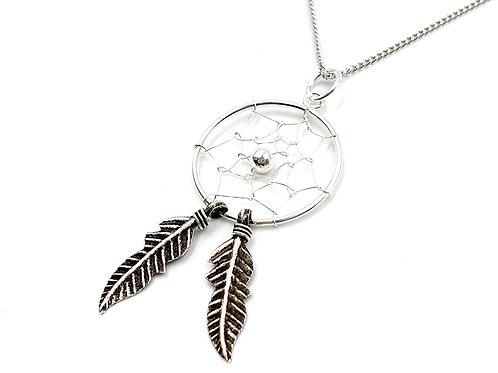 Dream catcher, dream catcher necklace, Silver dream catcher Necklace, Sterling Silver dream catcher necklace, Dream, necklace
