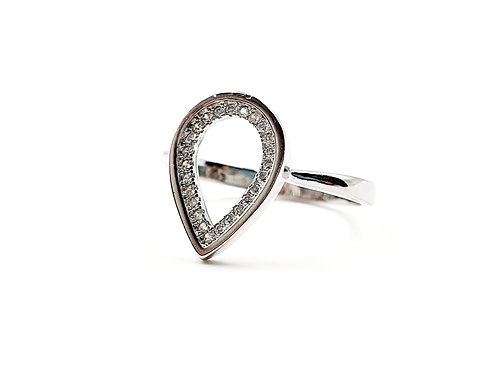 The Frosted Water Drop 925 Sterling Silver Ring