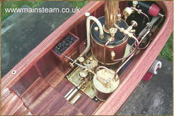Top view of the Cheddar powered Boat