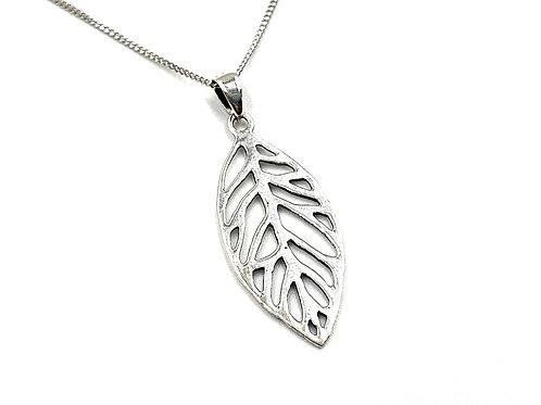 Silver Necklace, Leaf, Leaf necklace, Silver Leaf Necklace, Sterling Silver Leaf necklace, Sterling Silver, Necklace,