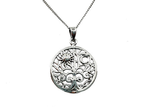 The Sun & Moon 925 Sterling Silver Necklace