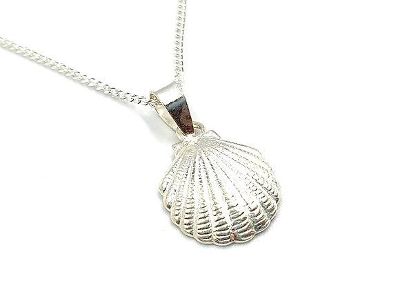 Shell, Mermaid, Mermaid necklace, Mermaid Shell Necklace, Silver Mermaid Shell Necklace, Sterling Silver Shell necklace,