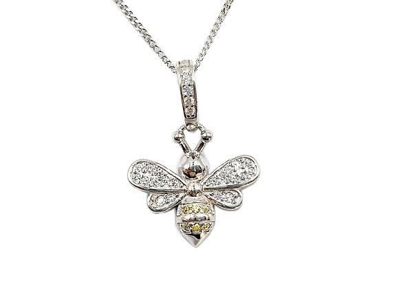 The Glistening Bee 925 Sterling Silver Necklace