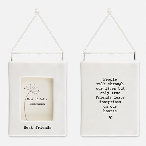 'Best Friends' Little Porcelain Hanging Frame