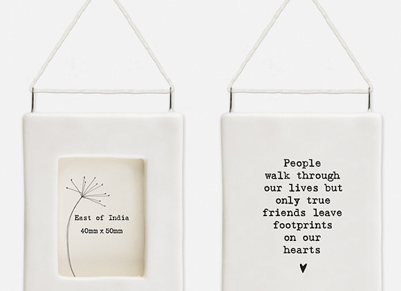 'Best Friends' Little Porcelain Hanging Frame