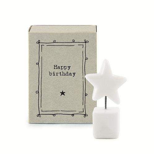 Little Matchbox Porcelain 'Happy Birthday' Mini Star Figurine