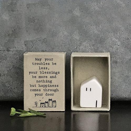 Little Matchbox Porcelain House Mini Figurine