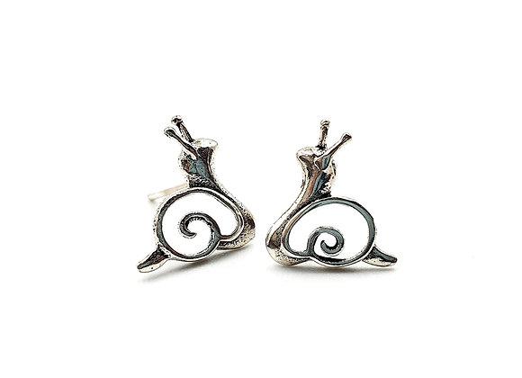 Sterling Silver studs, Snail, Snail Earrings, Silver Snail Earrings, Silver Snail Studs, Sterling Silver Snail Earrings,