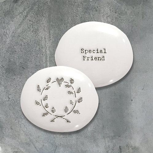 'Special Friend' Porcelain Positivity Pebble