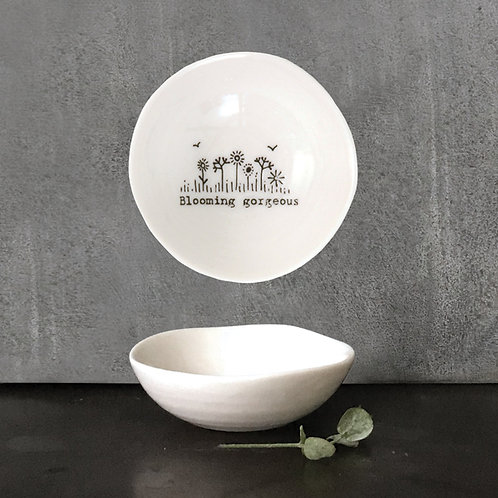 Small Porcelain 'Blooming gorgeous' Trinket Dish