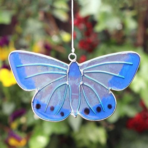 Chalkhill Blue Butterfly Hanging Suncatcher