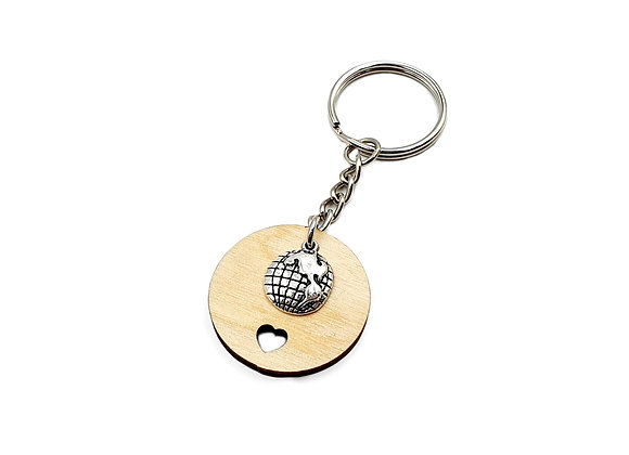 The World Map Key Ring
