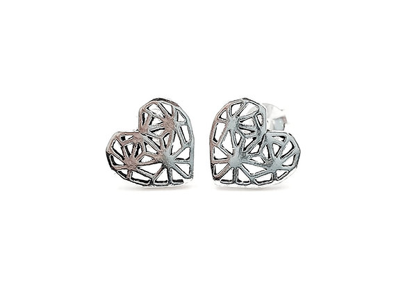 The Heart Burst 925 Sterling Silver Stud Earrings