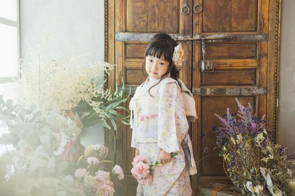 7歳 女の子 淡ピンク