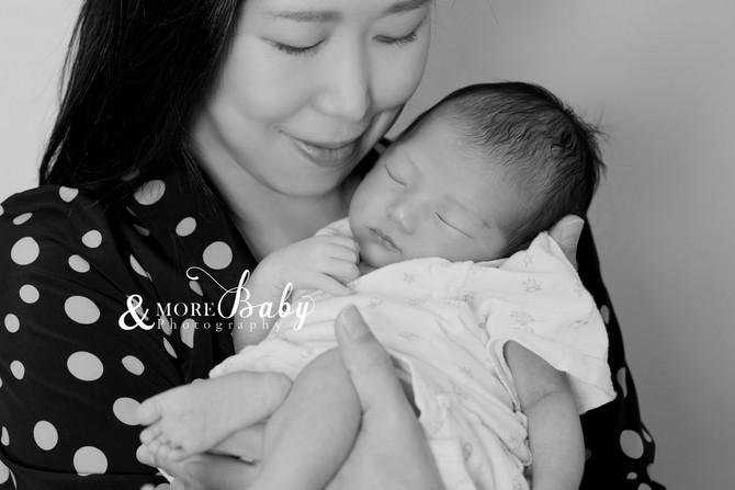 ママと新生児の記念ショット&サンプルニューボーンモデル募集