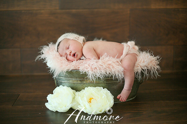 ドイツのハーフの赤ちゃん/ロマンティックピンク
