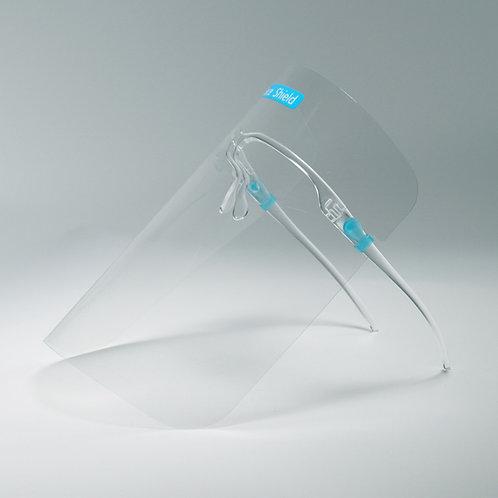Gesichtsschutz / Schild-Set mit Brillenaufsatz (5 Stk. Visiere)