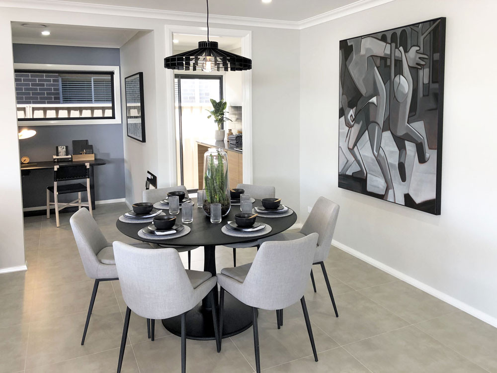 All images taken at Eden Brae Homes - all paintings by Sandro Nocentini
