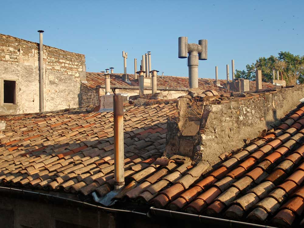 Rooftops in Nimes, France