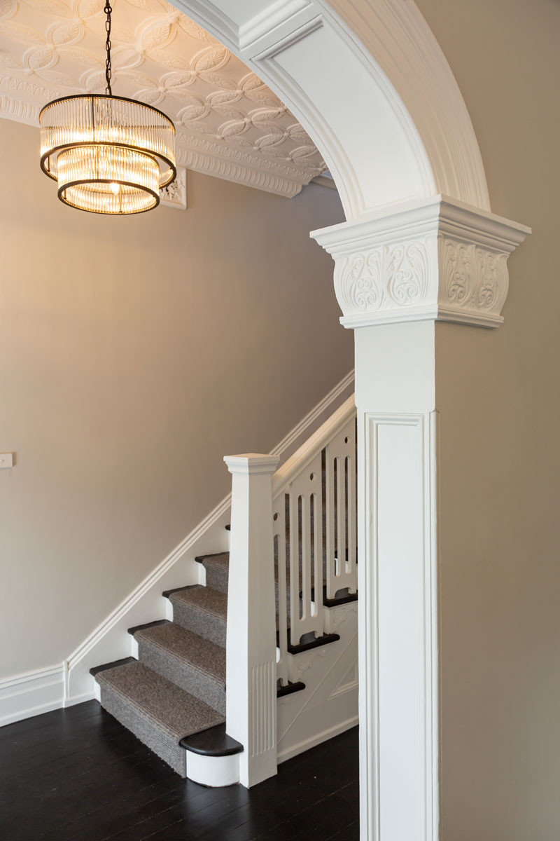 the striking staircase of the Taubmans House