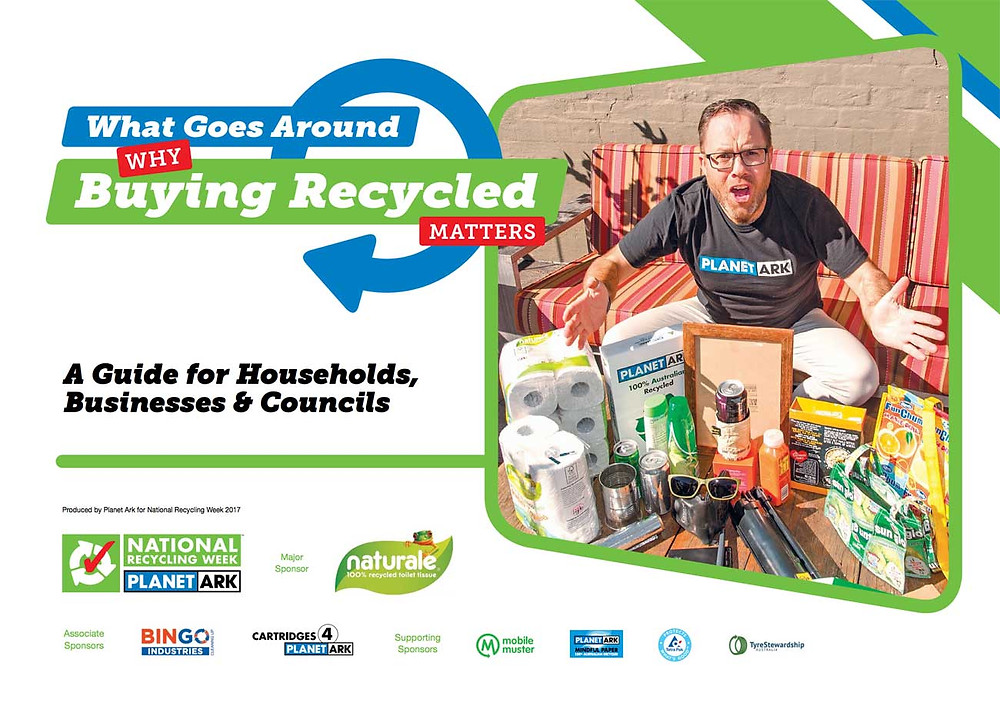 James Treble with Planet Ark for National Recycling Week