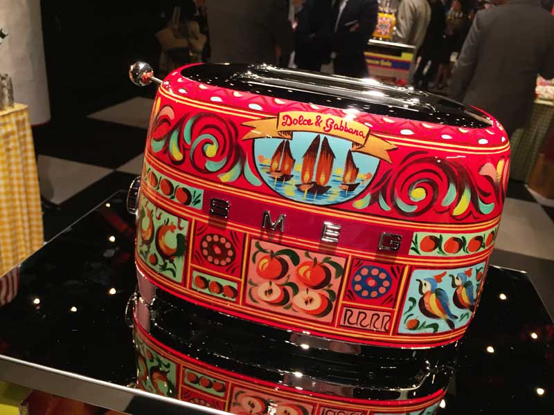 at the launch of SMEG and Dolce & Gabbana collaboration