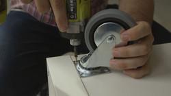 Adding castor wheels