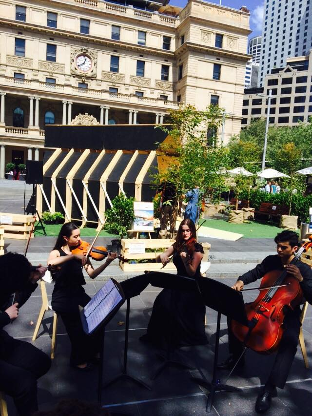 String Quartet Playing