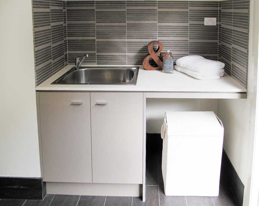 laminate cabinet, stone top