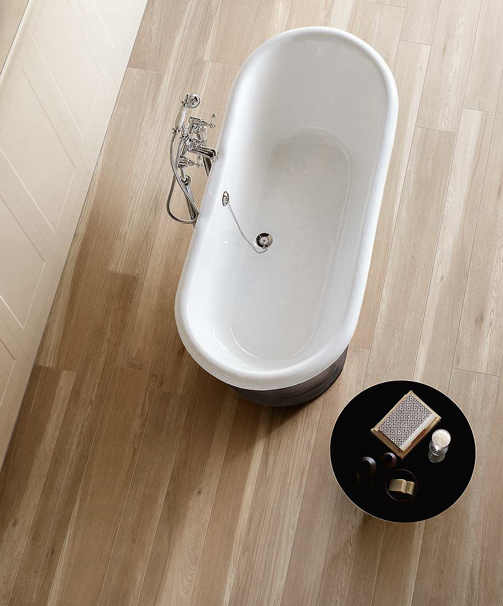 you can have the wooden look without fear of water damage