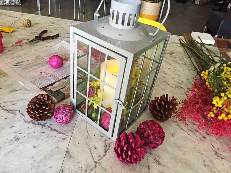 DIY Christmas Table Centrepiece