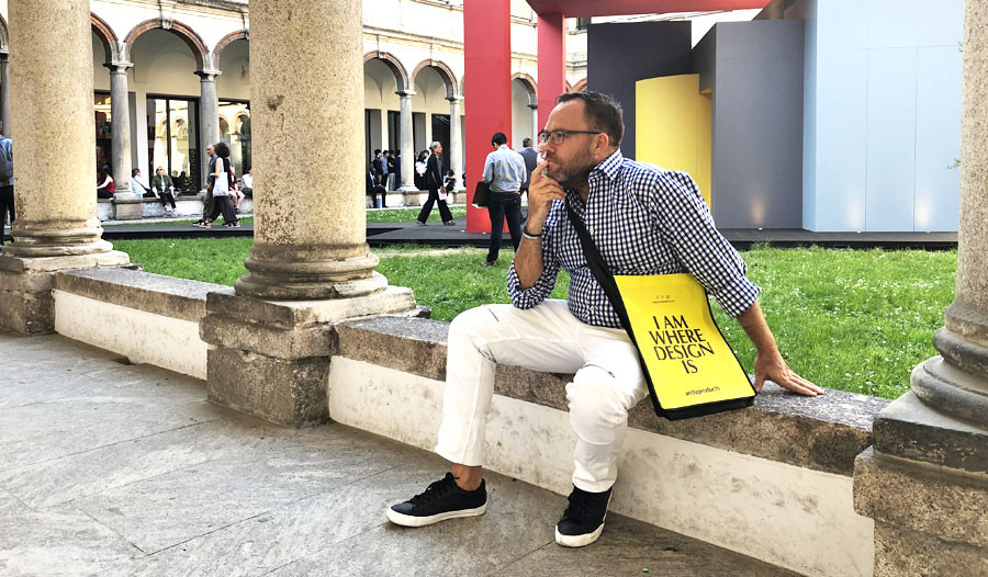 Designer James Treble at Milano Design Week & International Furniture Fair: Salone Del Mobile