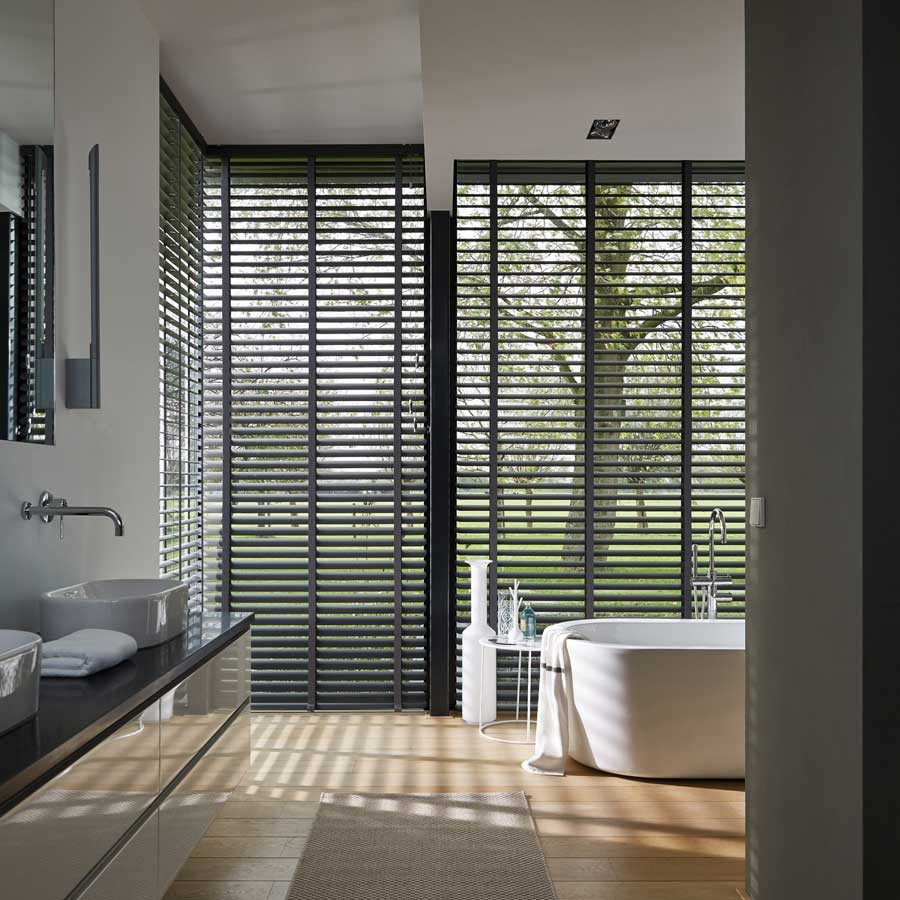 some rooms require screening for privacy whilst letting light in