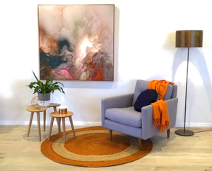 Armchair, Artwork and Rug are the starting point