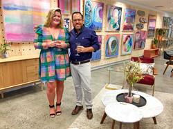 Artist Emma Cleine & James Treble