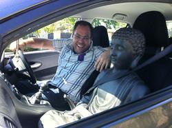 With Budda [Statue]