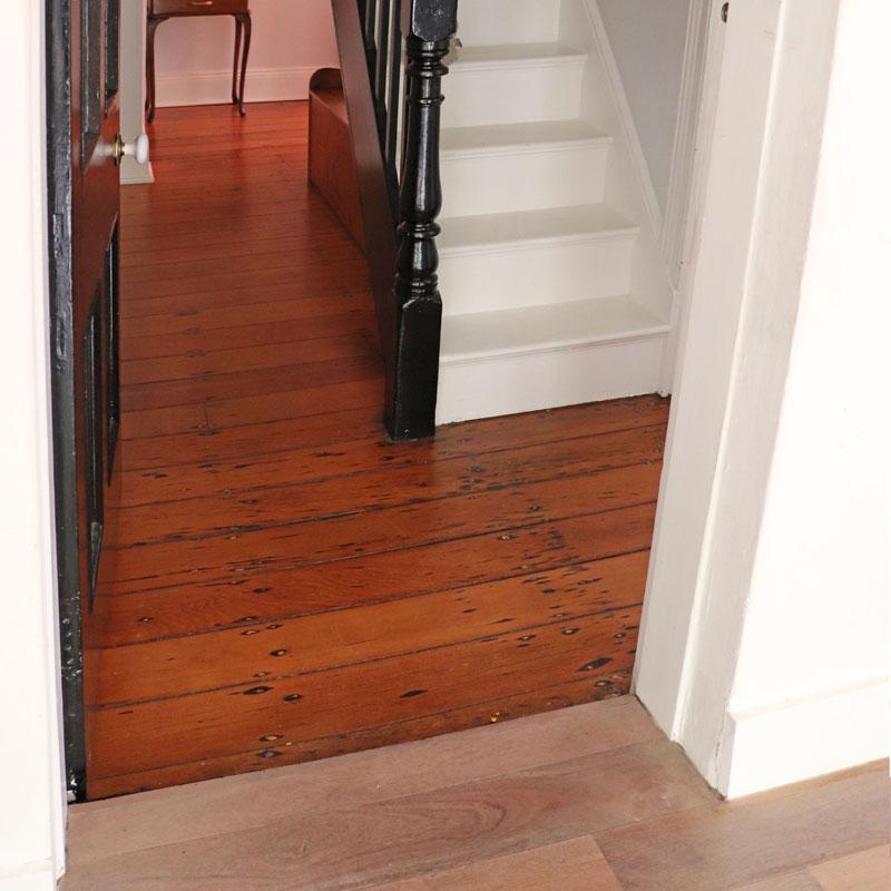uneven looking floors