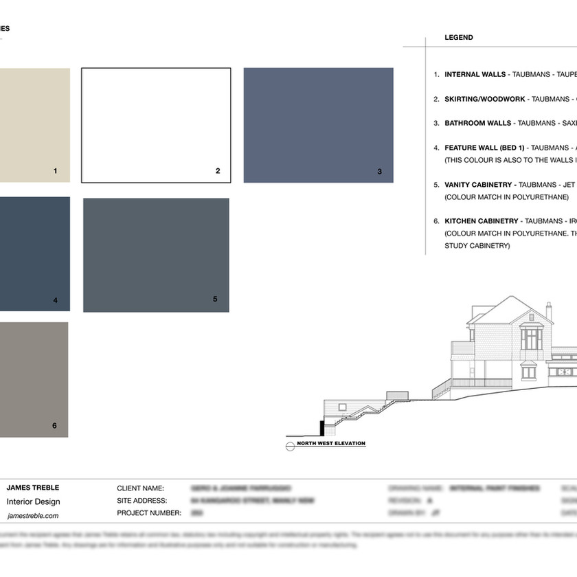 the palette Jame Treble chose for the interiors of the Taubmans House