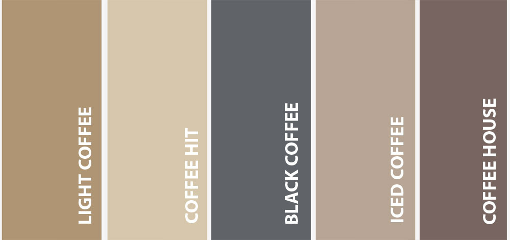 COFFEE colours courtesy of TAUBMANS