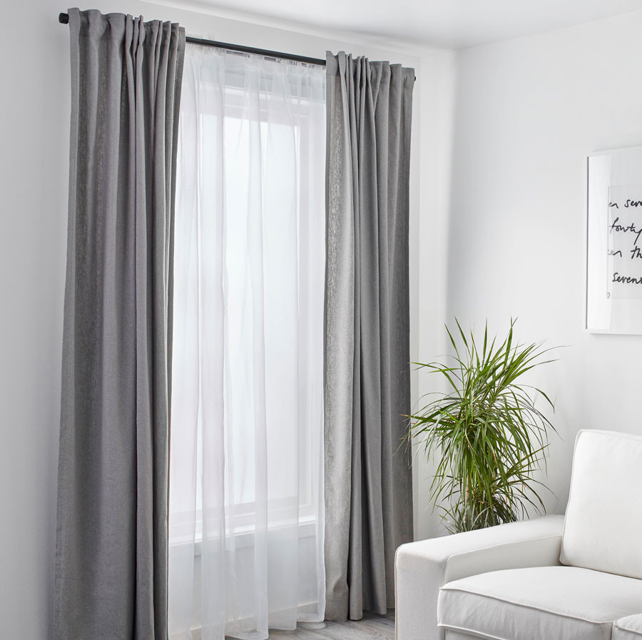 Double layered window curtains