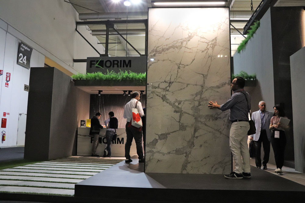 James at the Florim stand at Salone Del Mobile 2018