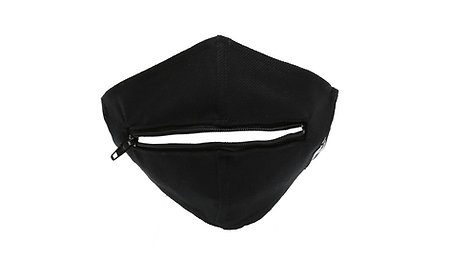 PSILY Black Zipper Mask